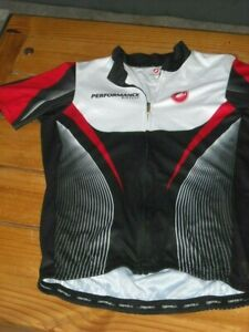Castelli Cycling Jersey PERFORMANCE Bicycle Full Zip jersey White/Red/Black