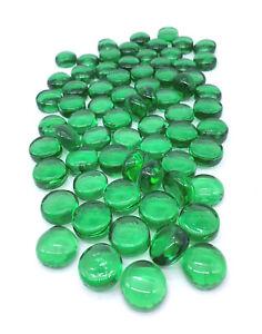 "Dark Green Mega Marbles Medium Size 3/4"" Mosaic Glass Gems Vacor Retired! Decor"