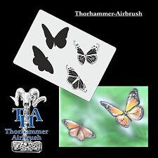 Karton Airbrushschablone  Schmetterlinge