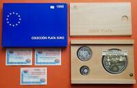 España 1+5+25 EUROS 1998 PLATA HOMENAJE AL EJERCITO Estuche FNMT 6 ONZAS OZ PP