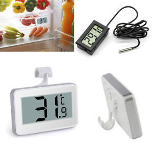 Waterproof Digital LCD Fridge Freezer Thermometer Magnet Stand Hanging Hook UK