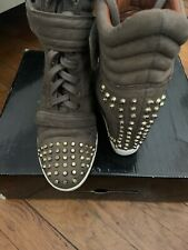 Boutique 9 Wedge Sneakers Hi Cut Out Gray Womens  Size 8