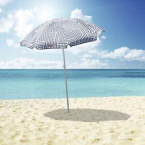 Outdoor Beach Umbrella Aztec 1.8m Sun Shade w/Carry Bag Tilt Pool Home Garden AU