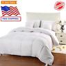 Comforter Duvet Insert White Quilted Down Alternative Box Design Utopia Bedding