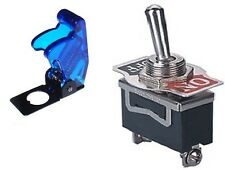 1 PC SPST SAFETY TOGGLE SW 20AMPS @ 125VAC TRANSLUCENT BLUE COVER  #ST15/66-5019