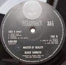 Black Sabbath MasterOfReality UK large Vertigo Swirl 1st Press VG/EX