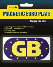 GB UE Europeo de viaje coche furgoneta magnética etiqueta de placa insignias Azul Francia España