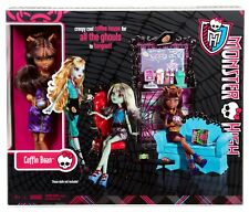 Monster High Clawdeen Wolf NEW Doll & Coffin Bean Coffee Shop PlaySet SHIPS FREE
