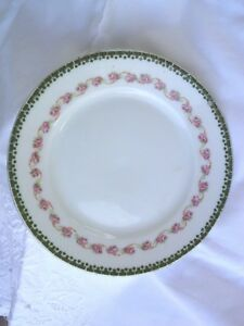 """7 Mz austria plate roses joined by ribbons with gold trim 6"""" bread and butter"""
