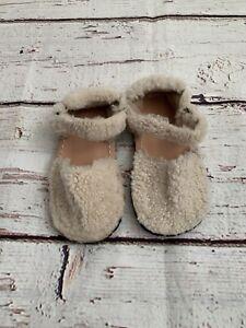 Zara Baby Girls Wool Winter Sandals Infant Size 6 Eu 23