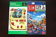 Super Famicom SFC Sim City + Sim City JR Boxed Japan game US Seller