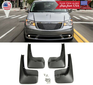 Front & Rear Fender Splash Guard Mud Flap For 11-16 Chrysler Town & Country