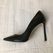 Store Display Jimmy Choo Black Patent Leather Pointy Pumps Heels Shoes 37 6.5 US