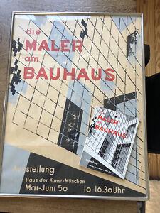 Original altes Plakat und Katalog: Maler am Bauhaus 1949/1950 80x60cm