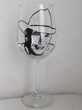 Hand Painted Libbey clear Wine Glass - GEORGE STRAIT