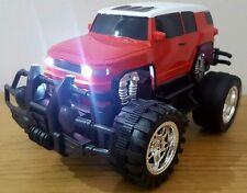 MONSTER TRUCK CROSS COUNTRY Remote Control Car 1:18 - LED FAST SPEED  RED / BLUE