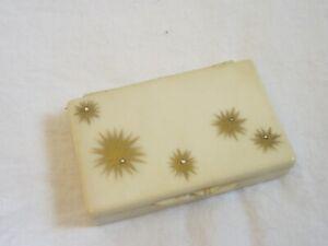 Vintage Ivory Cream Plastic Lucite Travel Purse Size Kleenex Tissue Holder Box