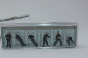 Preiser 10233 Firefighters 6 Figurines H0 1:87 New Original Packaging