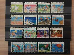 Australia 1989 Sports 16 stamp short set used