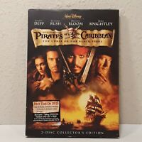 Pirates of the Caribbean: The Curse of the Black Pearl DVD 2003, 2-Disc
