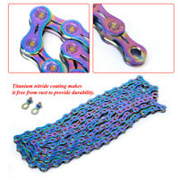 Bike Steel Colorful Variable Speed Chain Accessory for Mountain Road Bicycle !~