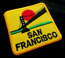 San Francisco Golden Gate Yellow Embroidered Iron on Patch + Free Postage