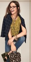 Cabi 3617 Yellow with Black Paisley Keyhole Sleeveless Top Blouse Size Small