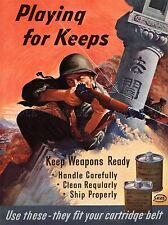 PROPAGANDA MILITARY WAR WEAPON CARE PLAYING FOR KEEPS ART POSTER PRINT LV6949
