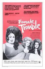 Female Trouble Movie POSTER 27 x 40 Divine, David Lochary, B, USA, NEW