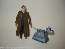 "DOCTOR WHO 10th DR 5"" FIGURE Long Brown Coat RED SHOES K9 DOG K-9 VGC"