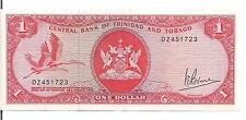 TRINIDAD & TOBAGO, $1, L. 1964, REPLACEMENT note ???