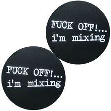 Slipmats Technics DMC Fuck Off I'm mixage (1 paire / 1 pair) MOFF NOUVEAU + OVP