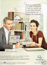Publicité advertising 2012 Notaires de France