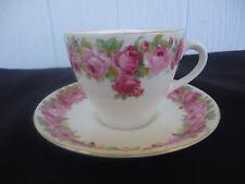 vintage royal doulton raby rose d5533 tea cup & saucer set   pink roses