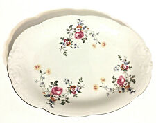 "Wawel Made in Poland Embossed Floral 13"" Serving Platter 1980s Vintage"