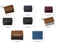 NWT Michael Kors Leather PVC Jet Set Travel Card Case ID Key Holder Wallet