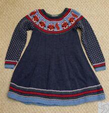 Hanna Andersson Fox sweater dress blue size 120 US 6/7