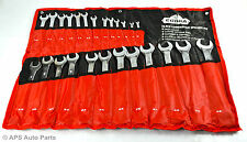 25 Piece Combination Spanner Set 6-32mm Metric Canvas Case Open & Ring End Heavy