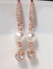 Bridal Swarovski Pearl Cubic Zirconia Earring Wedding Bridsmaid Gift Jewellery's