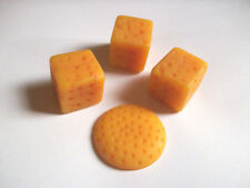 Vintage Plastic Cheese Cubes and Cracker Sized Round