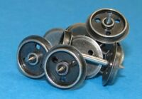 Dapol WHEELS DISC - 20 x Axle Sets 3 Hole 12mm Replacement Wagon Wheels T48 Post