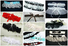You Choose Garters: Wedding, Prom, Singles, Sets of 2, Satin, Lace,MANY COLORS