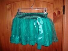 Girls Turquoise Teal Black Silver Tutu Pirate Costume Skirt Halloween SZ Medium