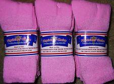 3 Pair of Women's Pink Diabetic Soxs Socks Size 9 - 11    Fits Shoe Size 5-10