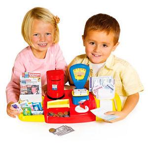 Post Office Casdon Little Shopper Till Register Stamps Play Fake Money Cash Box