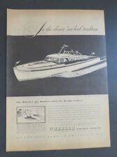 Original Print Ad 1946 WHEELER Double Cabin Fly Bridge Cruiser Sea-boat 46'