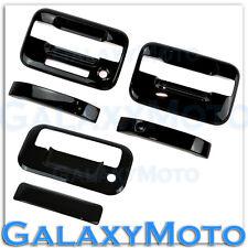 04-14 Ford F150 Gloss Black 2 Door Handle+keypad+no PSG KH+Tailgate Cover Kit