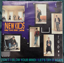 """New Kids On The Block – Didn't I (Blow Your Mind) 7"""" Poster Bag – BLOCK P8 – Ex"""