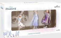 Hallmark Set of 3 Disney Frozen II 2 Christmas Ornaments Elsa Anna Olaf New