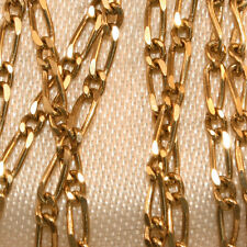 100% Genuine 9K Yellow Gold Figaro 1:2 Chain (51cm) , Lobster Claw. As New